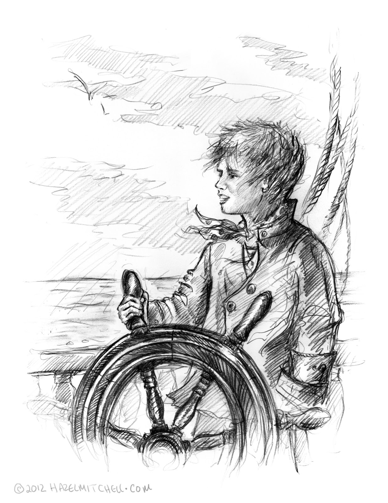 hazel mitchell the young pirate u2013 sketch for today nescbwi